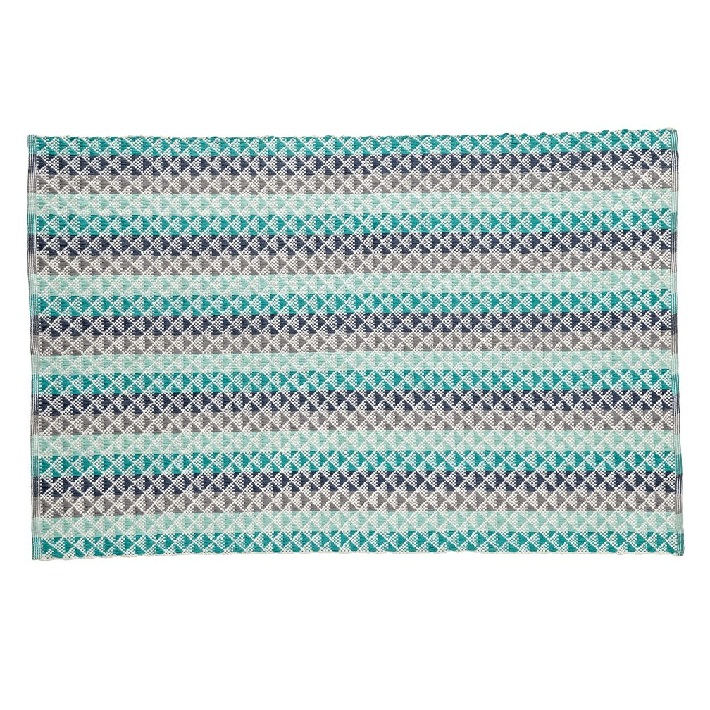 Pyramid Blue Reversible Rug