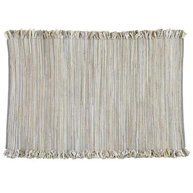 4 x 6' Ribbon Cutting Rug (Grey)