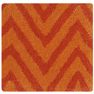 Orange Zig Zag Rug Swatch