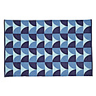 4 x 6' Blue Semi Scallop Rug
