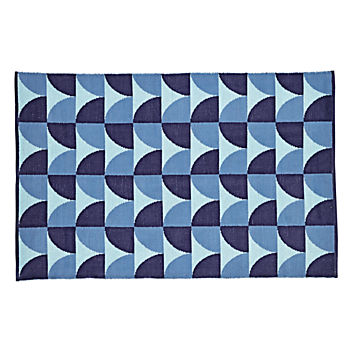 4 x 6' Semi Scallop Rug (Blue)