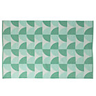 4 x 6' Mint Semi Scallop Rug