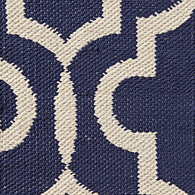 Fretwork Navy Rug Swatch