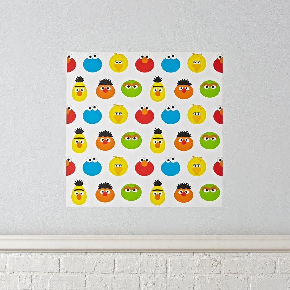 Kids wall decals and stickers the land of nod sesame street wall decal amipublicfo Image collections