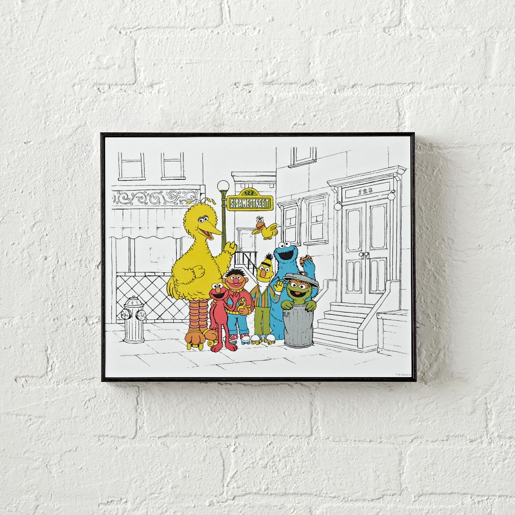 All kids wall art decals the land of nod sesame street sketched wall art amipublicfo Images