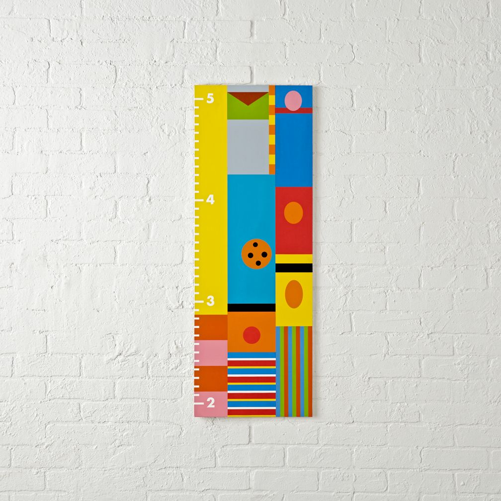 Kids toddler wall growth chart the land of nod sesame street minimalist growth chart nvjuhfo Images