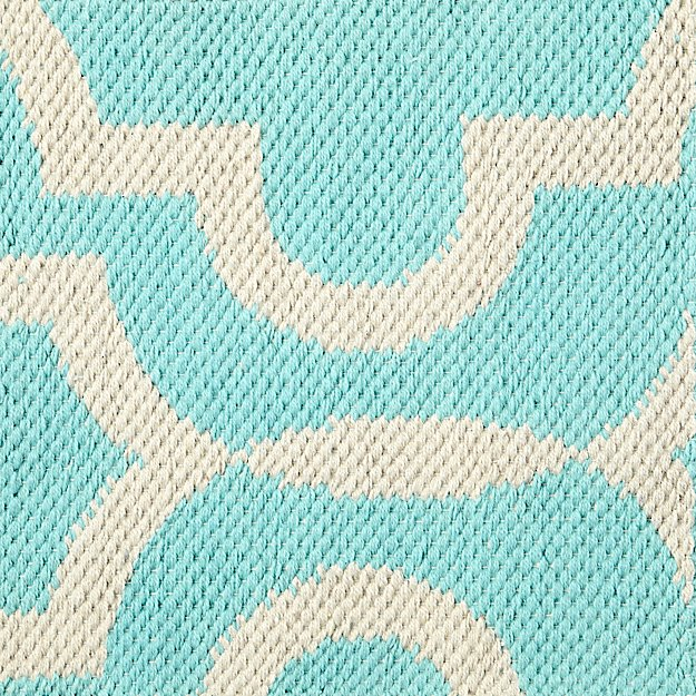 Fretwork Mint Rug Swatch