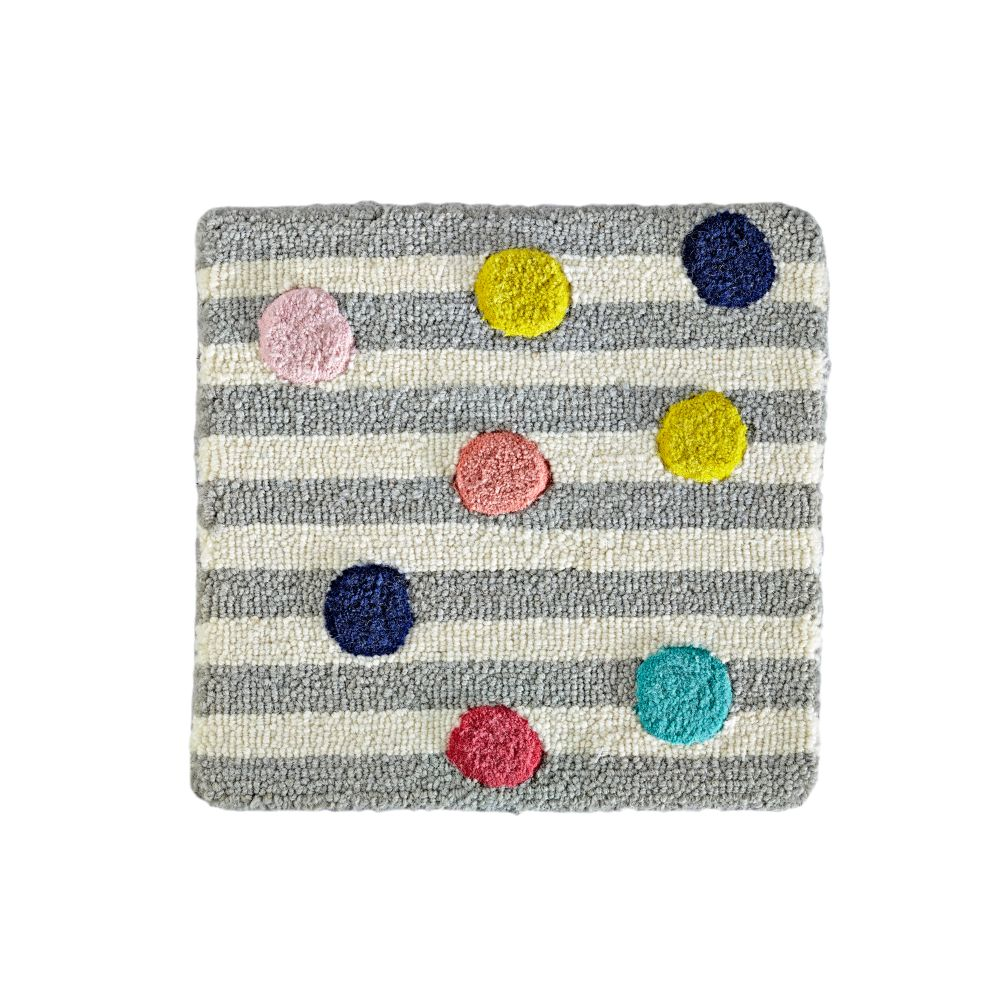 Sprinkled Stripes Rug Swatch