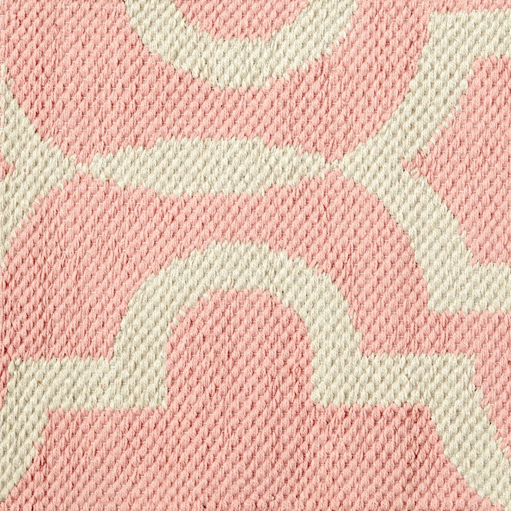 Fretwork Pink Rug Swatch