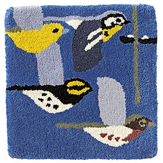 Charley Harper Flock of Birds Rug Swatch