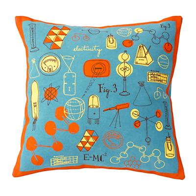 Blue/Orange A+B+C Throw Pillow Cover