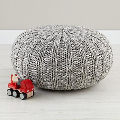 Pull Up a Pouf (Grey Variegated)