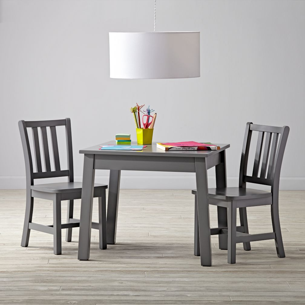 grey table and chairs
