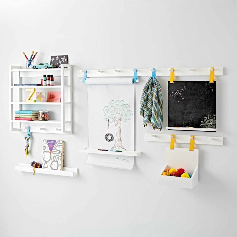 Kids shelves wall cubbies the land of nod beaumont white shelving collection amipublicfo Images