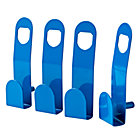 Beaumont Blue Wall Hooks (Set of 4)
