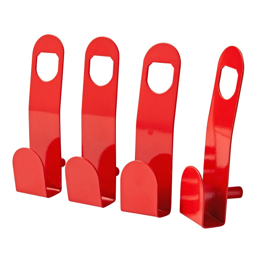 Beaumont Red Wall Hooks (Set of 4)