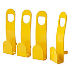 Beaumont Yellow Wall Hooks (Set of 4)