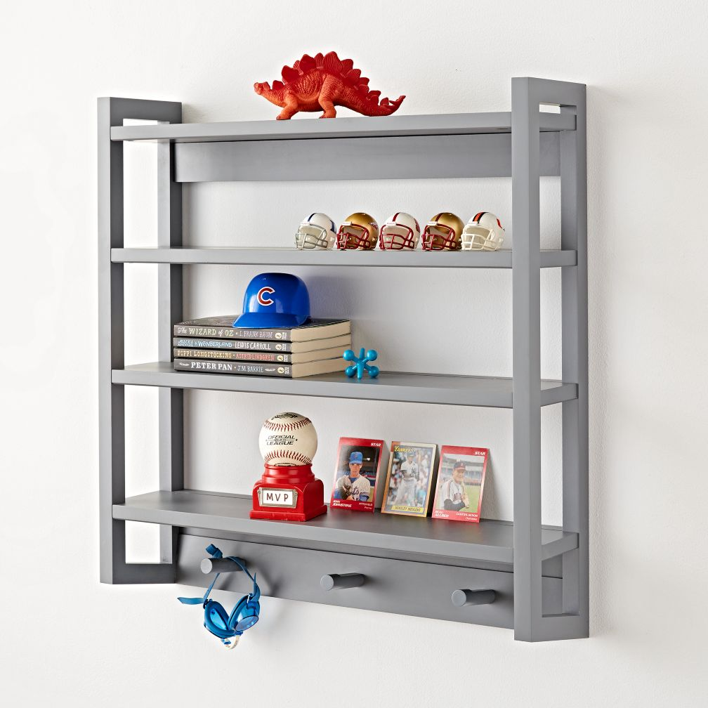 Beaumont Grey Wall Rack