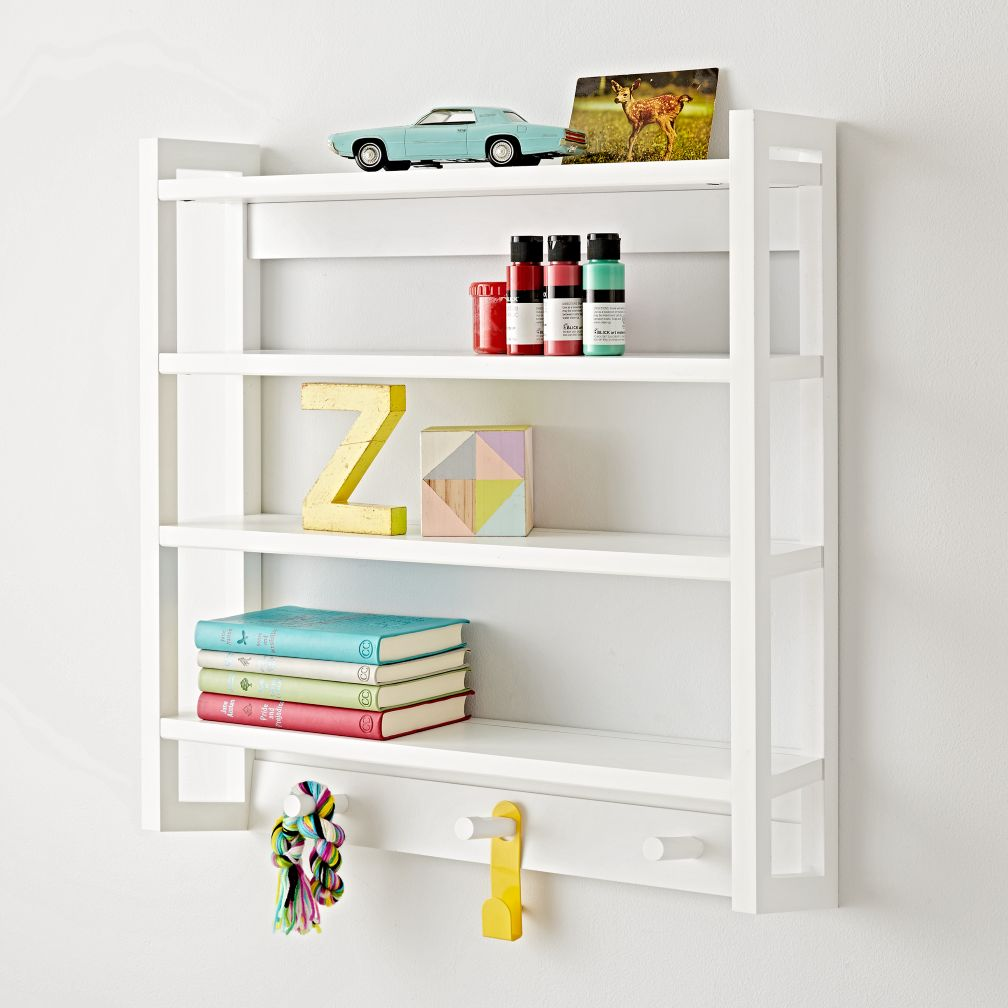 Beaumont White Wall Rack