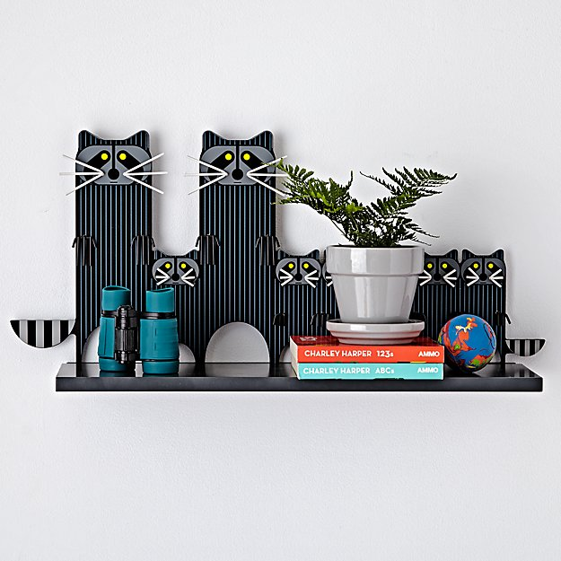Charley Harper Raccoon Shelf