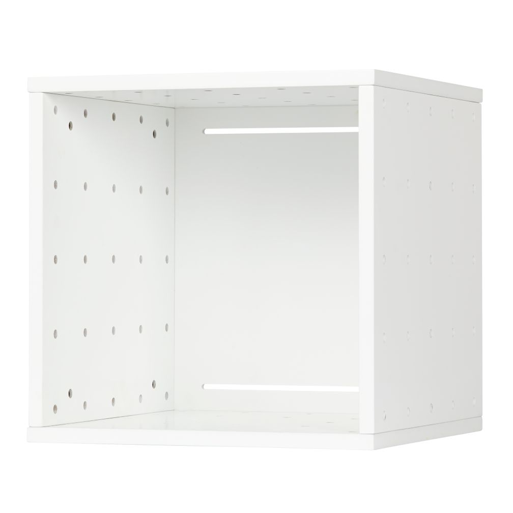 Large Cubby Cube White Wall Shelf