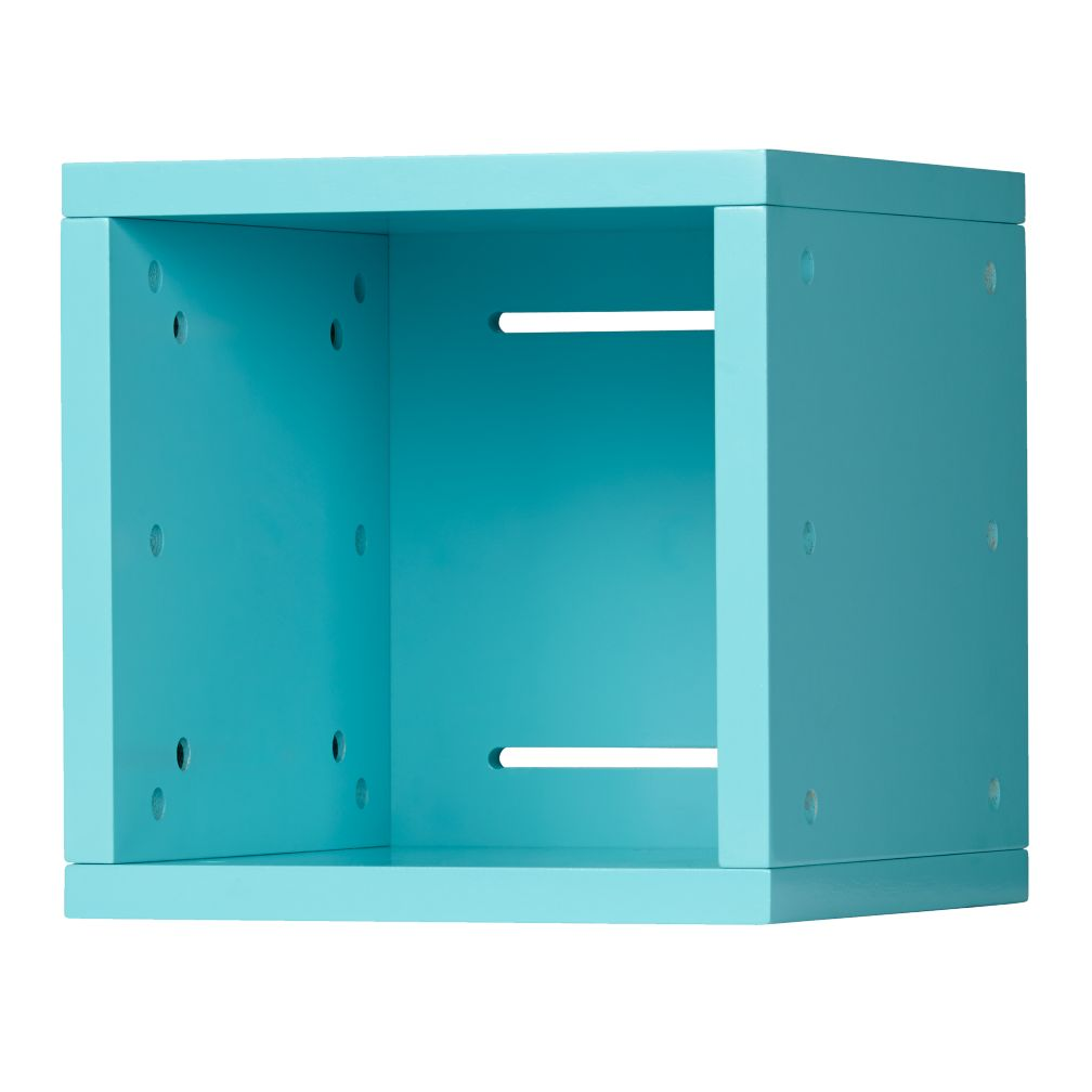 Small Cubby Cube Wall Shelf (Aqua)