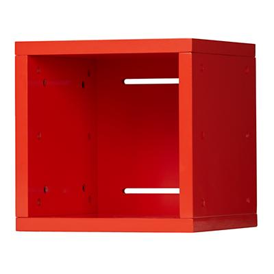Small Cubby Cube Wall Shelf (Red)