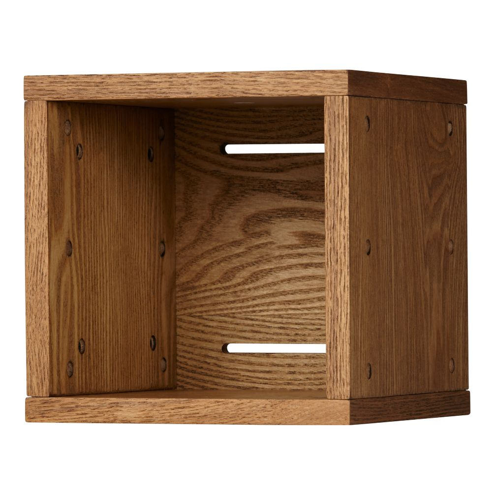 Small Cubby Cube Wall Shelf Wood Veneer The Land Of Nod
