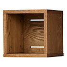 Small Wood Veneer Cubby Cube Wall Shelf