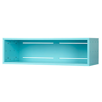 Large Aqua Cubby Narrow Wall Shelf