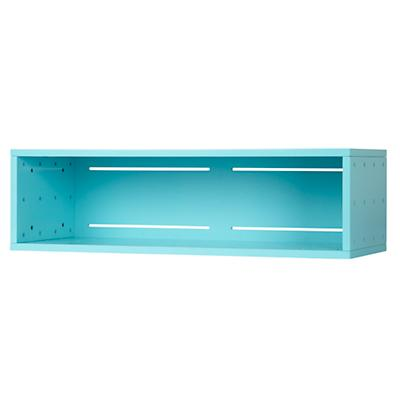 Large Cubby Narrow Wall Shelf (Aqua)