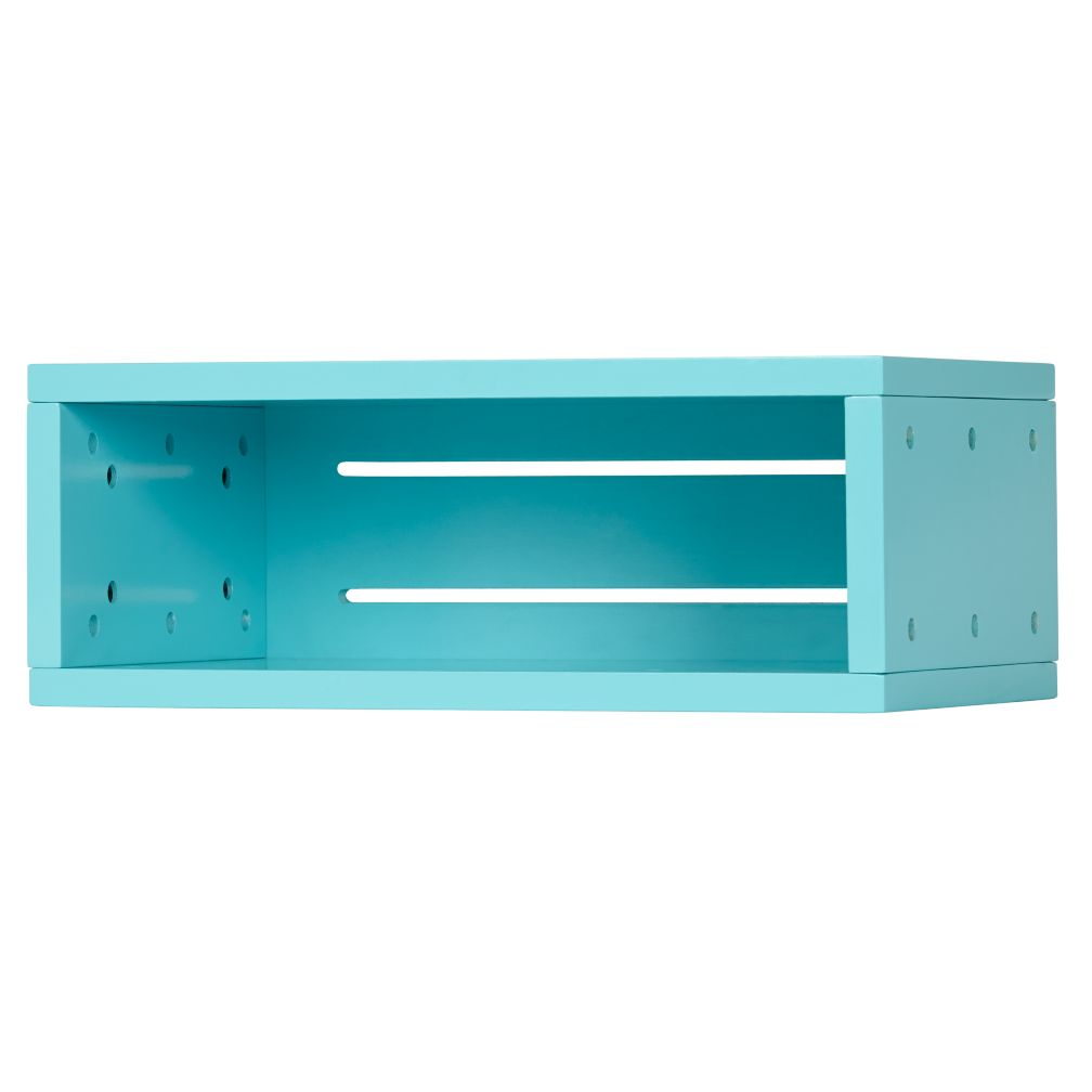 Small Cubby Narrow Wall Shelf (Aqua)