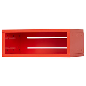 Small Cubby Narrow Wall Shelf (Red)