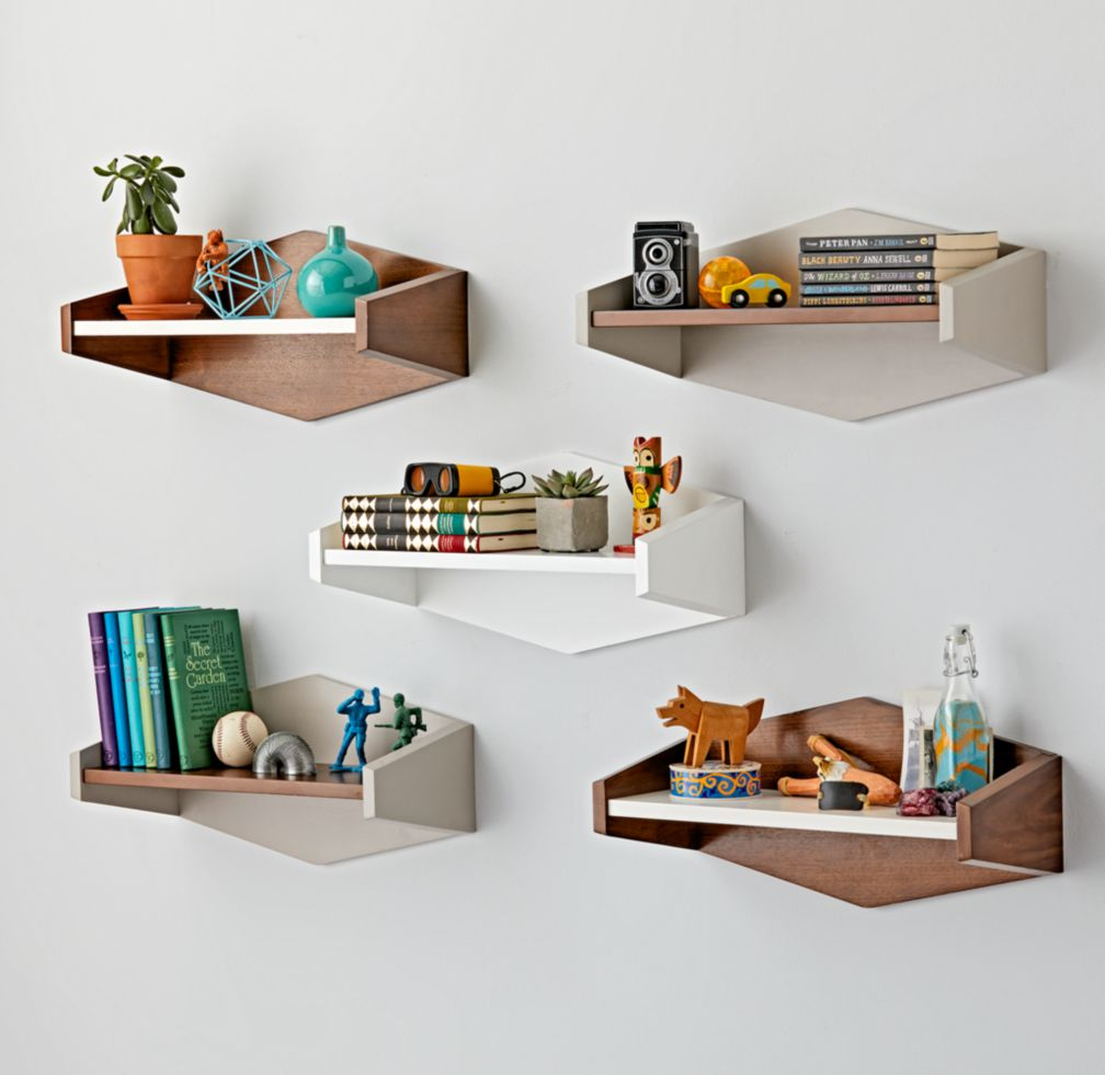 Kids shelves wall cubbies the land of nod mid century shelf amipublicfo Images