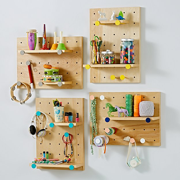 On the Pegboard and Shelves