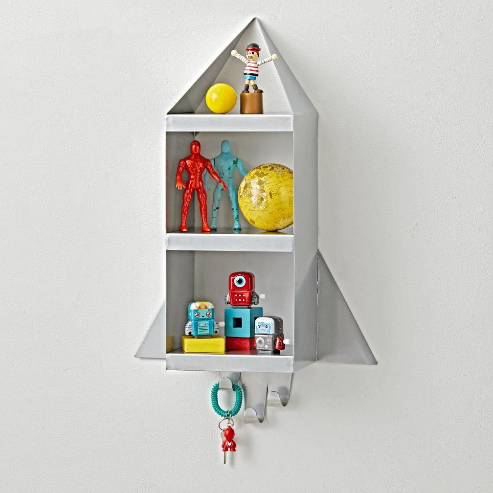 Kids shelves wall cubbies the land of nod rocket shelf amipublicfo Choice Image
