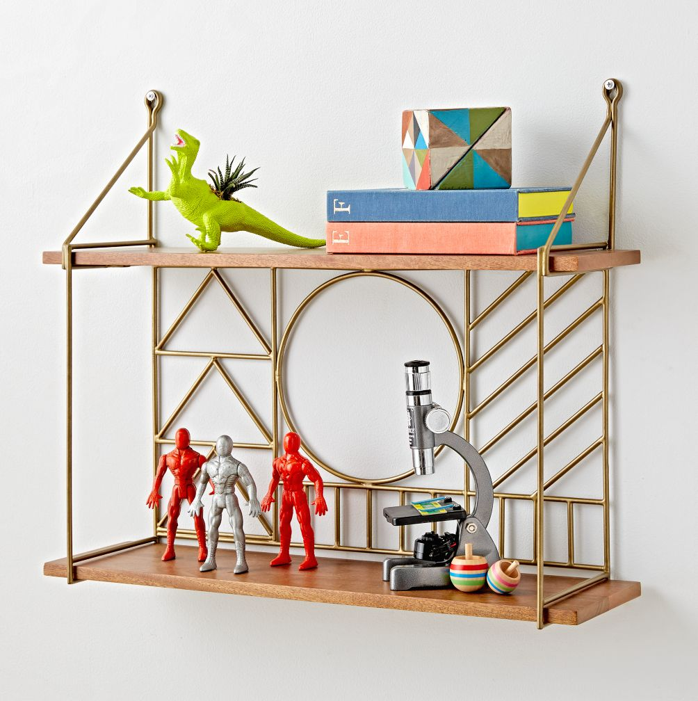 Kids shelves wall cubbies the land of nod wirework wall shelf amipublicfo Images