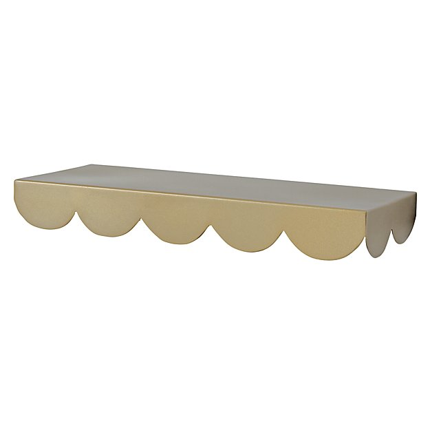 Gold Simple Scallop Wall Shelf