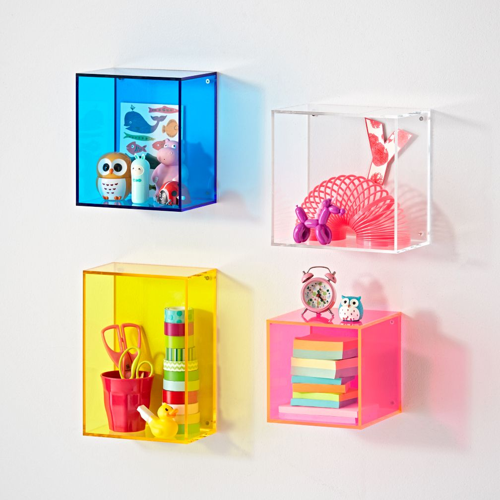 Square Away Acrylic Cube Shelf
