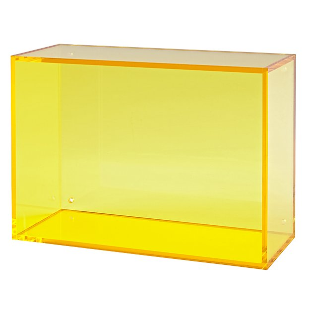 Square Away Acrylic Cube (Yellow)