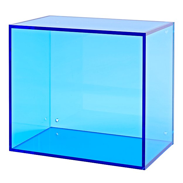 Square Away Acrylic Cube (Blue)