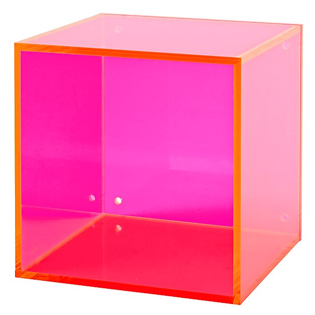 Square Away Acrylic Cube (Pink)