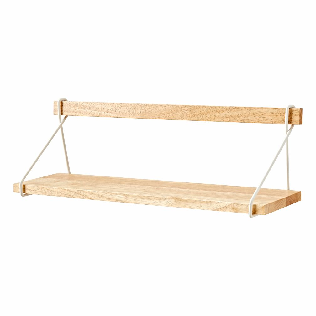 Suspension natural wood floating shelf the land of nod for Suspension nature