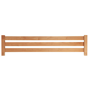 Simple Natural Bed Guardrail