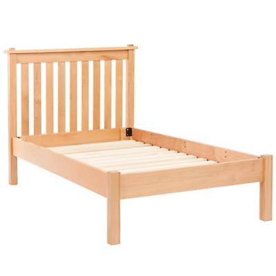 Twin Simple Natural Bed (Headboard w/Wood Frame)