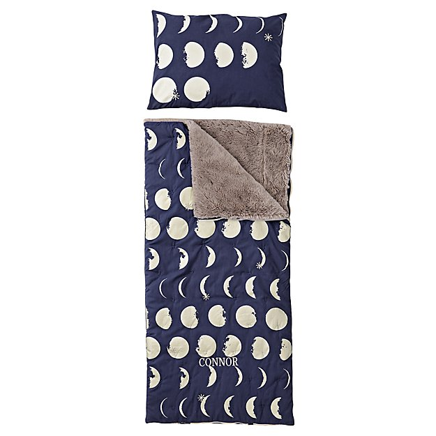Celestial Personalized Blue Sleeping Bag and Pillowcase
