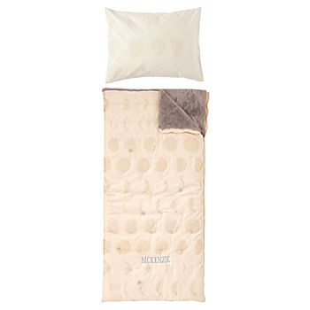 Celestial Personalized Pink Sleeping Bag and Pillowcase
