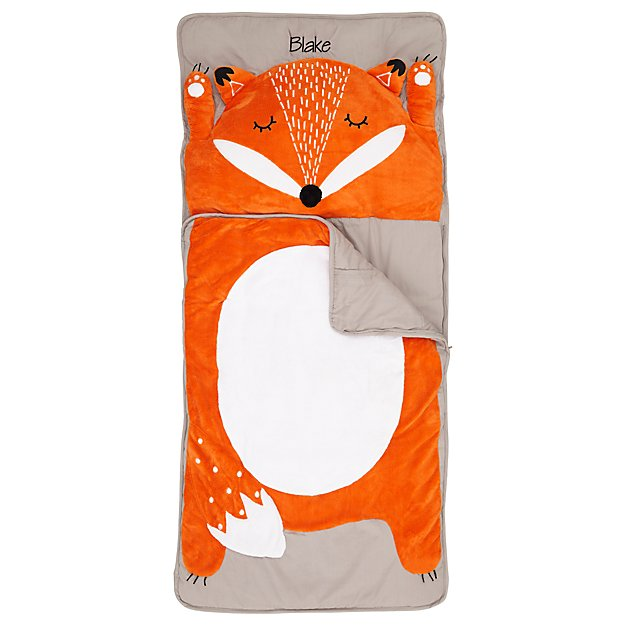 How Do You Zoo Fox Personalized Toddler Sleeping Bag