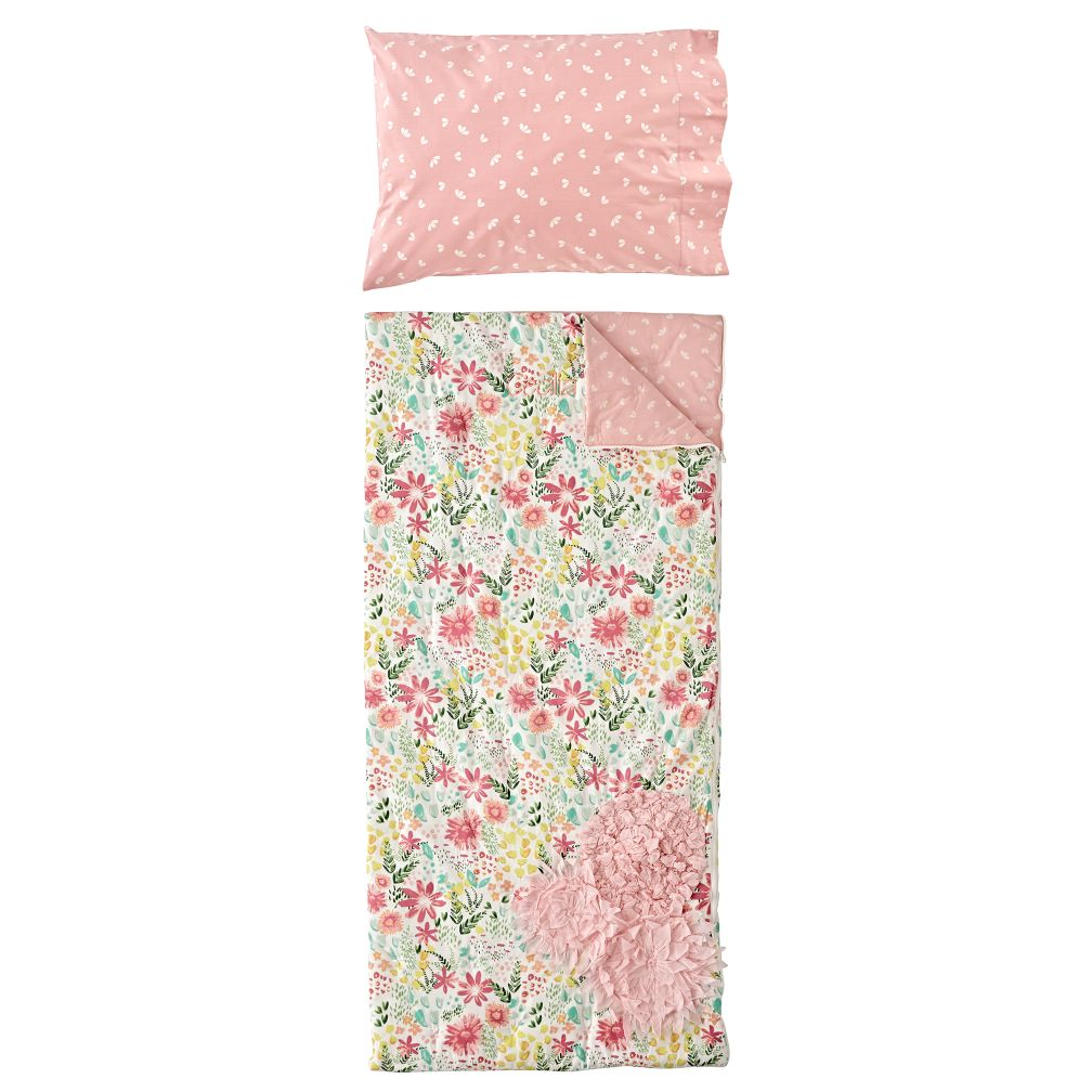 Garden Bed Personalized Sleeping Bag and Pillowcase
