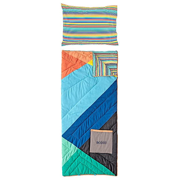 Geo Pop Personalized Sleeping Bag and Pillowcase